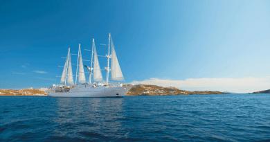 Windstar Cruises Wind Star in Mykonos