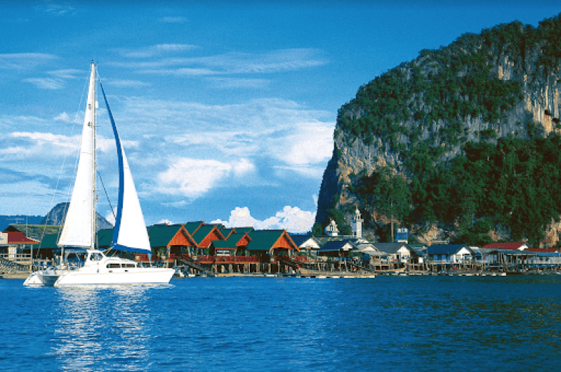 Sailboat in Phuket, Thailand