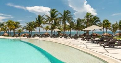 One of Hyatt Ziva Riviera Cancun's nine pools