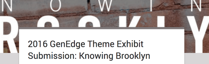 Submission Guidelines for KNOWING BROOKLYN