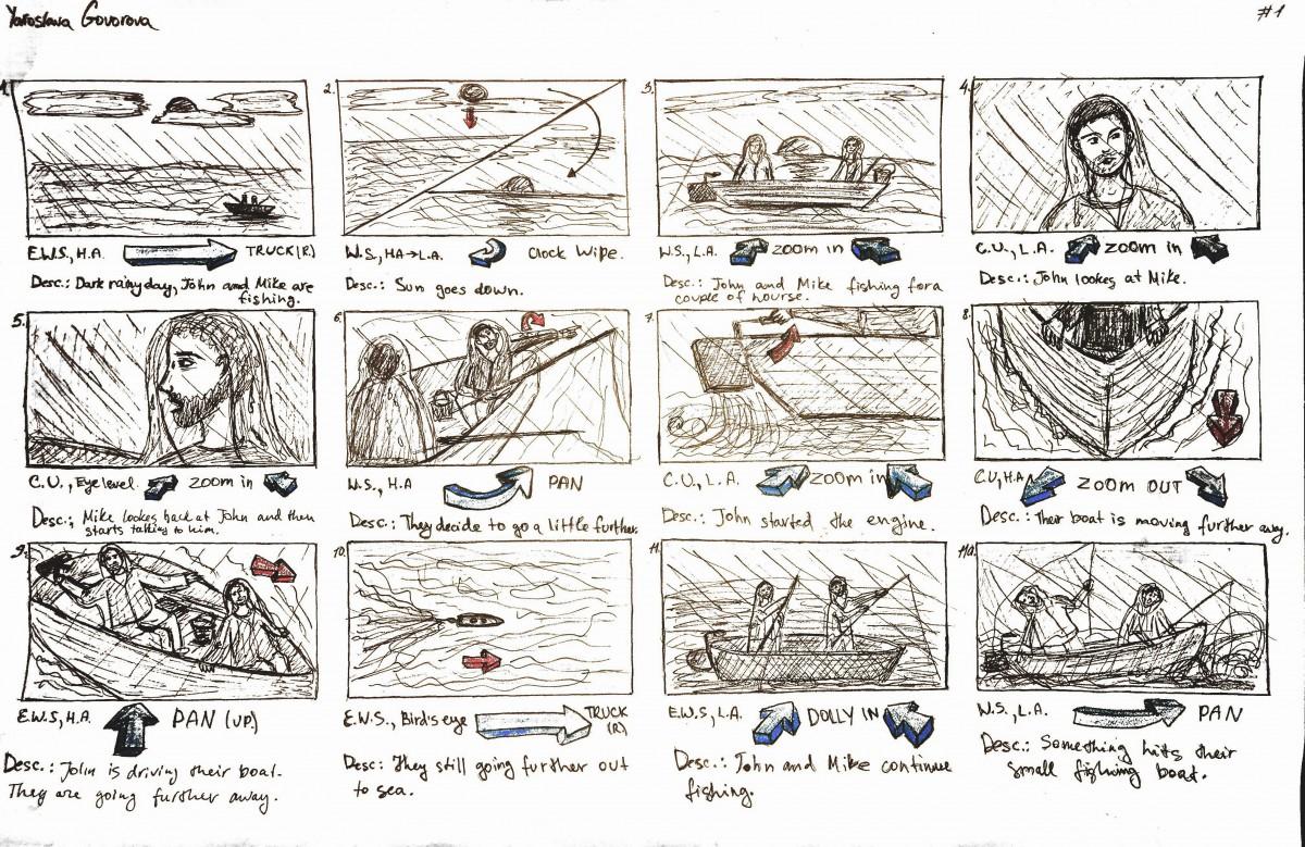 Project 2 Suspense Storyboard Yara Govorova