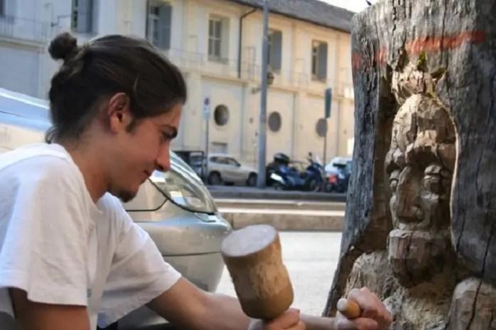 Andrea Gandini, wood-artist della Capitale