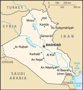 mappa Iraq