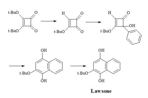 Figure 10. Synthesis of lawsone