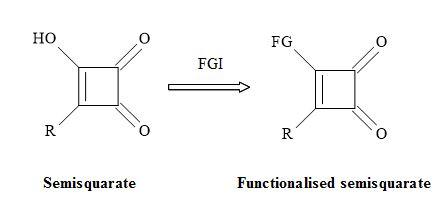 Figure 25. Functionalisation of semisquarate