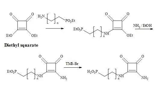 Figure 35. Synthesis of phosphonic acid squaramide