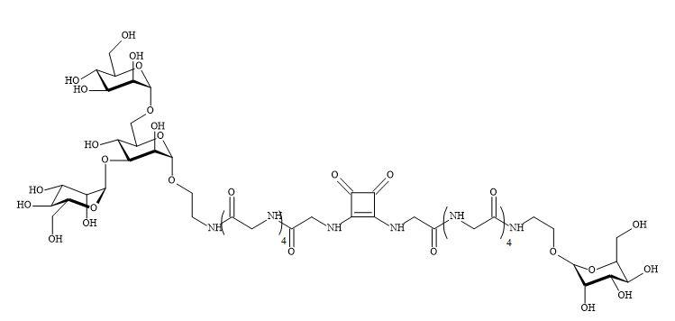 Figure 80. Bivalent glycopeptide squaramide