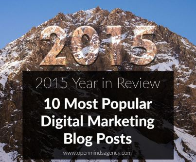 Most popular digital marketing blog posts 2015