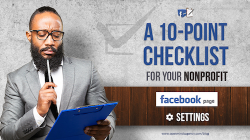 A 10 point checklist for your nonprofit facebook page settings