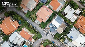 Bird's Eye view of a neighborhood