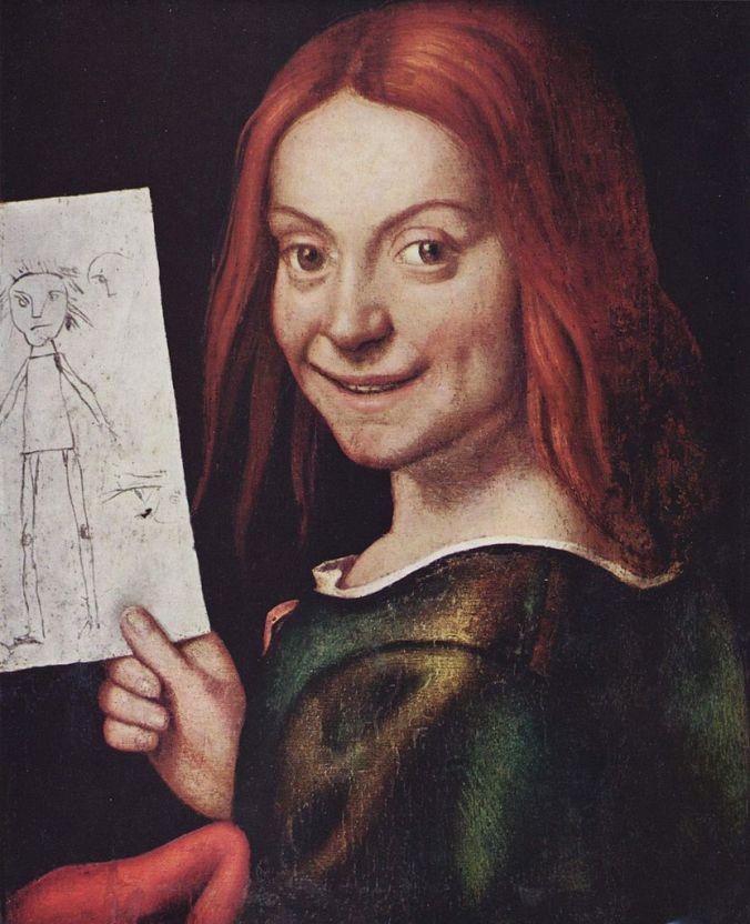 Giovanni Francesco Caroto (1482–1555,)Knabe mit einer Zeichnung, 1. Hälfte 16. Jahrhunderts