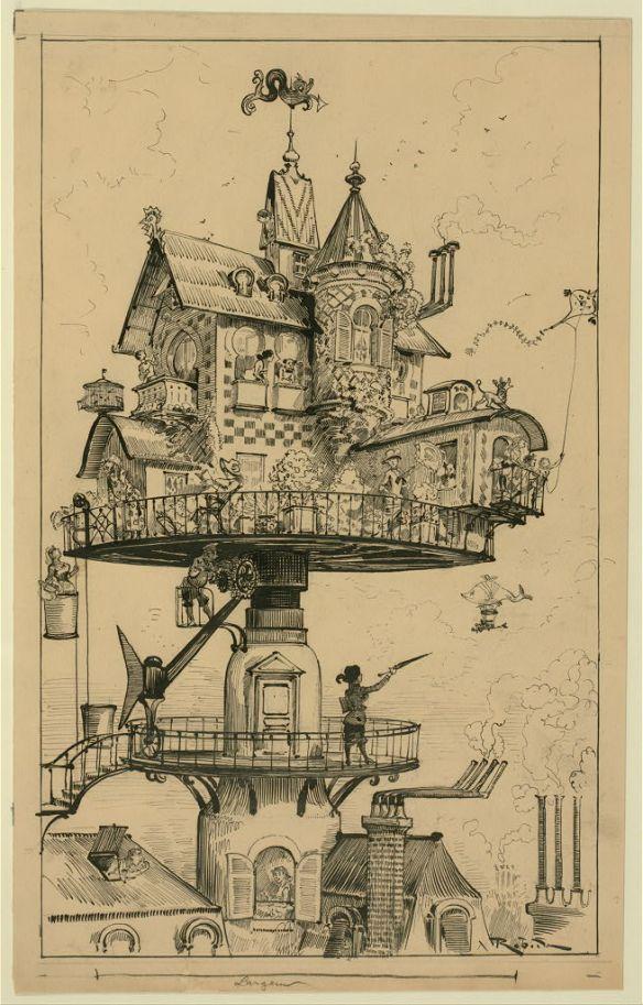 "Albert Robida, ""Du Vingtième Siècle"" von 1883"