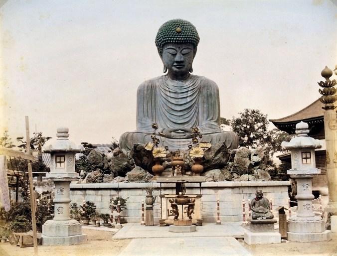 Unbekannter Fotograf, Der große Buddha von Hiogo, um 1900