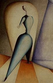 Oskar Schlemmer, Tänzerin (Die Geste), 1922 - 1923, Bayerische Staatsgemäldesammlungen - Sammlung Moderne Kunst in der Pinakothek der Moderne München, CC BY-SA 4.0