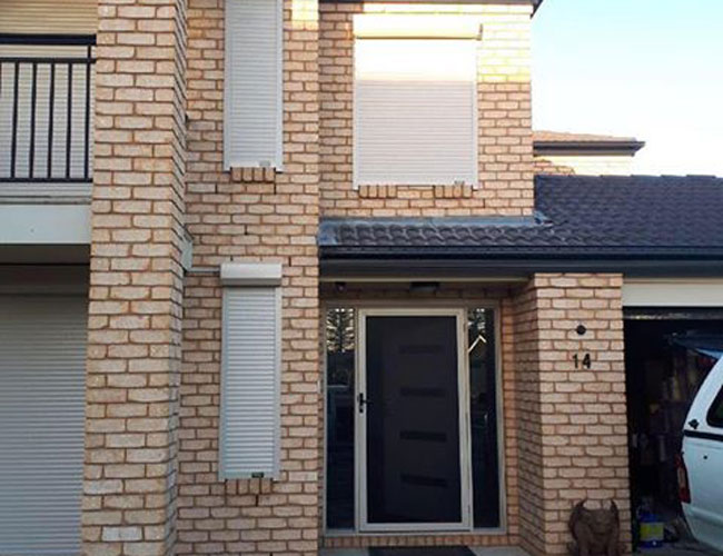 Small and Large White Adelaide Roller Shutters Installation