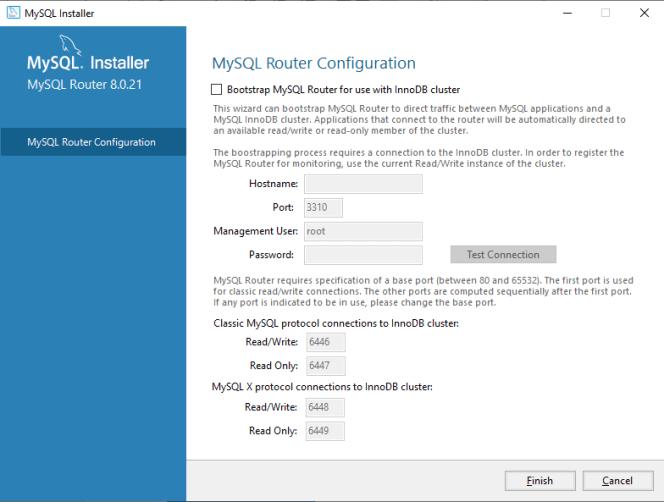 MySQL Router Configuration