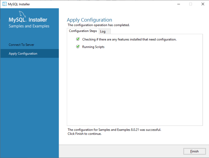 MySQL Apply Configuration Continue