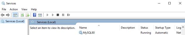 MySQL Service Info