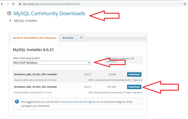 MySQL Community Download