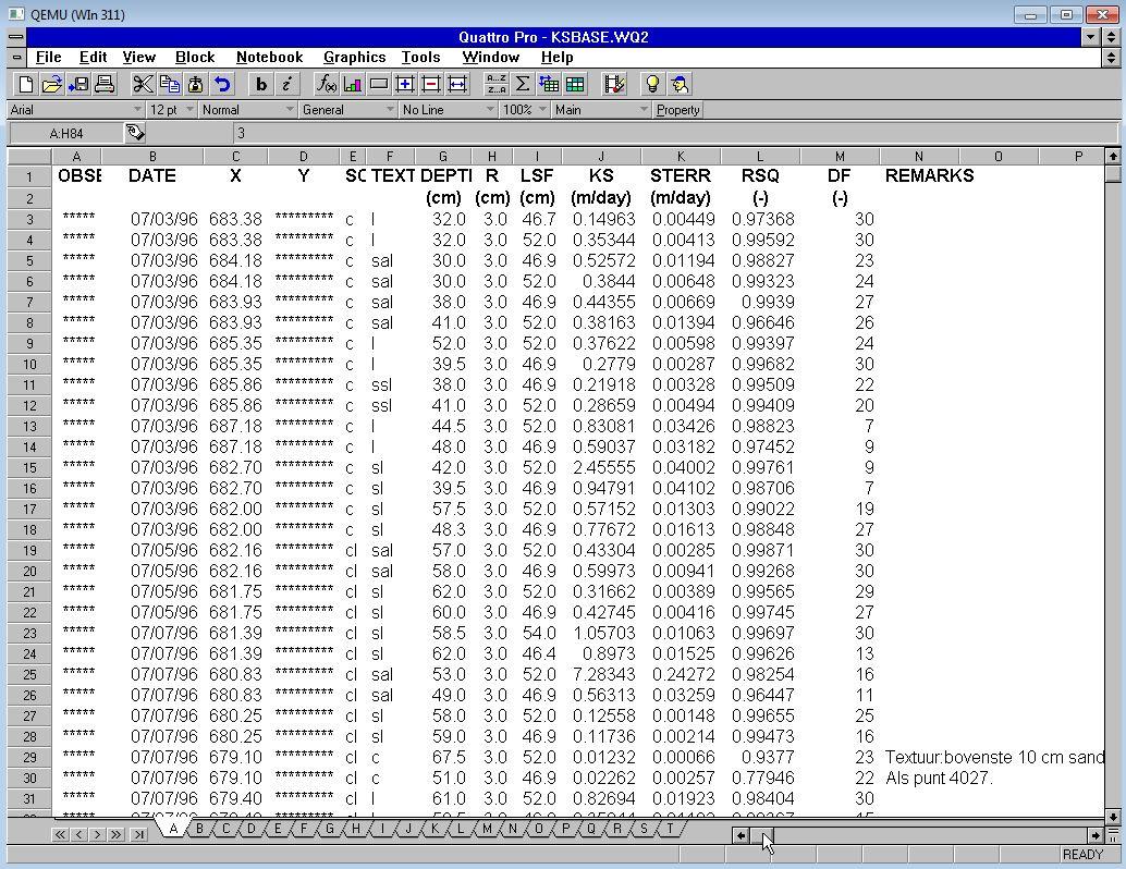 KBASE.WQ2 in QP6