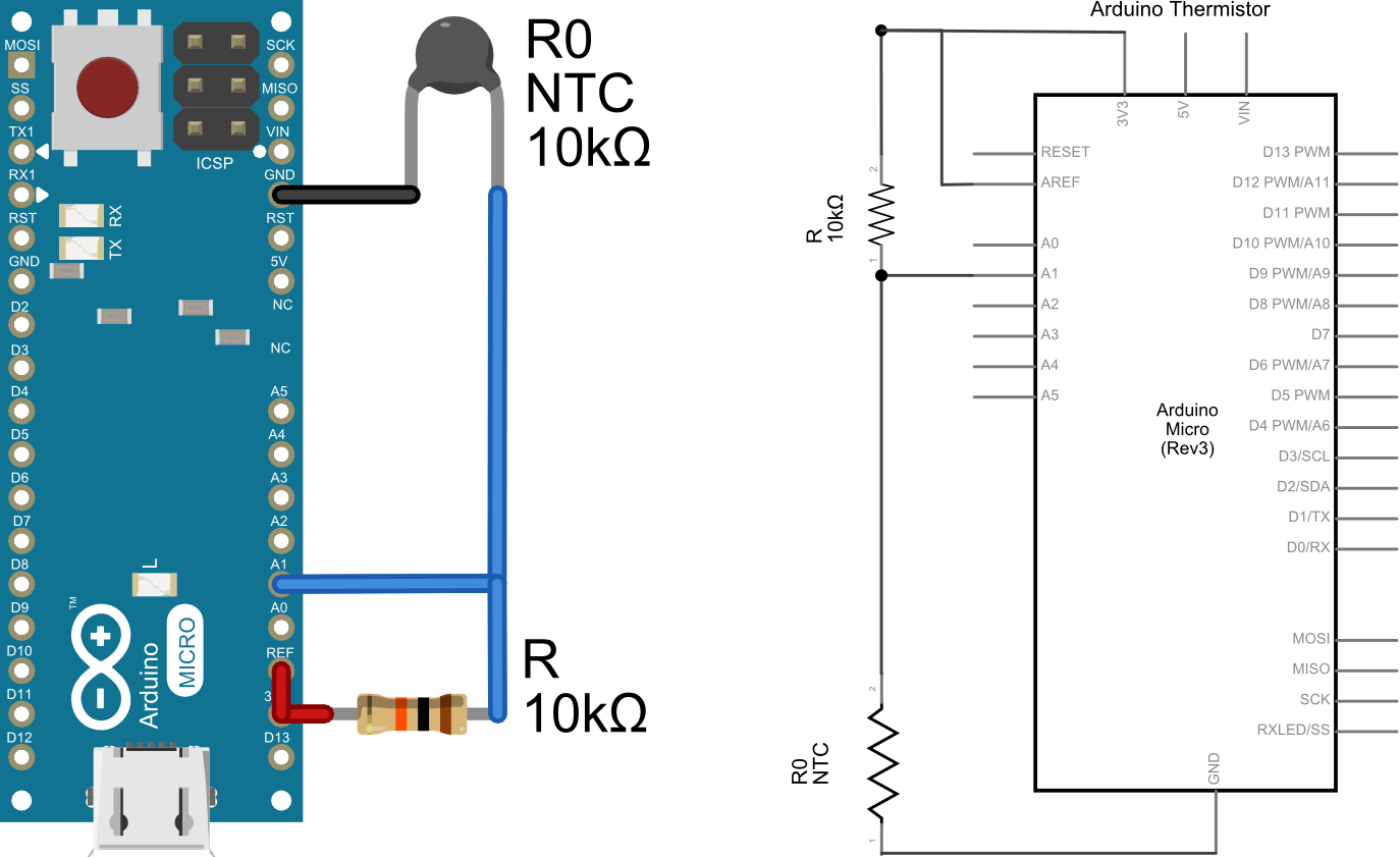 openQCM the Temperature Sensor Using a Thermistor with Arduino | Quartz  Crystal Microbalance with Dissipation Monitoring: the first scientific QCM  entirely Open SourceOpenQCM