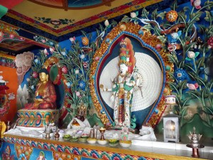 At the Altar in a Buddhist Monastery