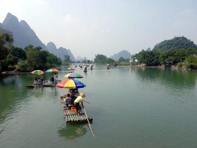 Bamboo Rafting in Yanghsuo