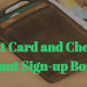 Credit Card Sign-up Bonuses