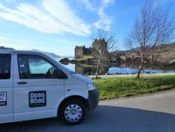Open Road Campervan at Eilean Donan Castle