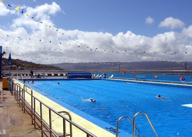 Gourock swimming pool. Pic credit: Dave Souza