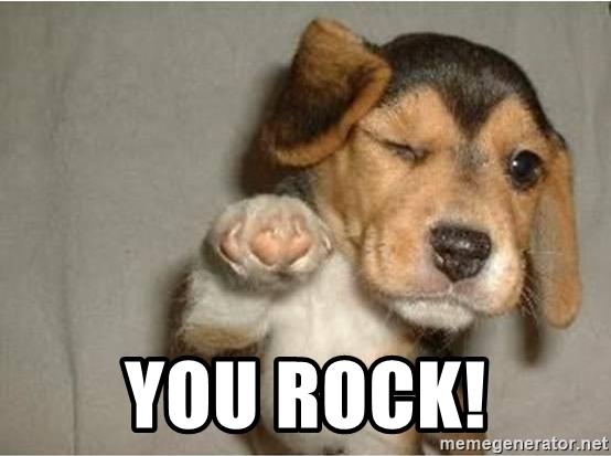 Because you rock!
