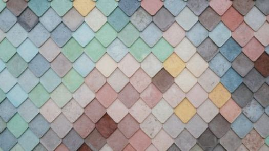 Multi coloured blocks overlapping