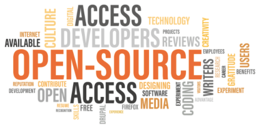 Multiple words like Open source, Drupal, Contribution, contributor etc are stacked togethe