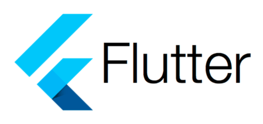 blue arrows on white background with the text flutter
