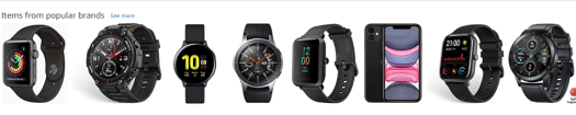 Amazon showing watch suggestions to buy