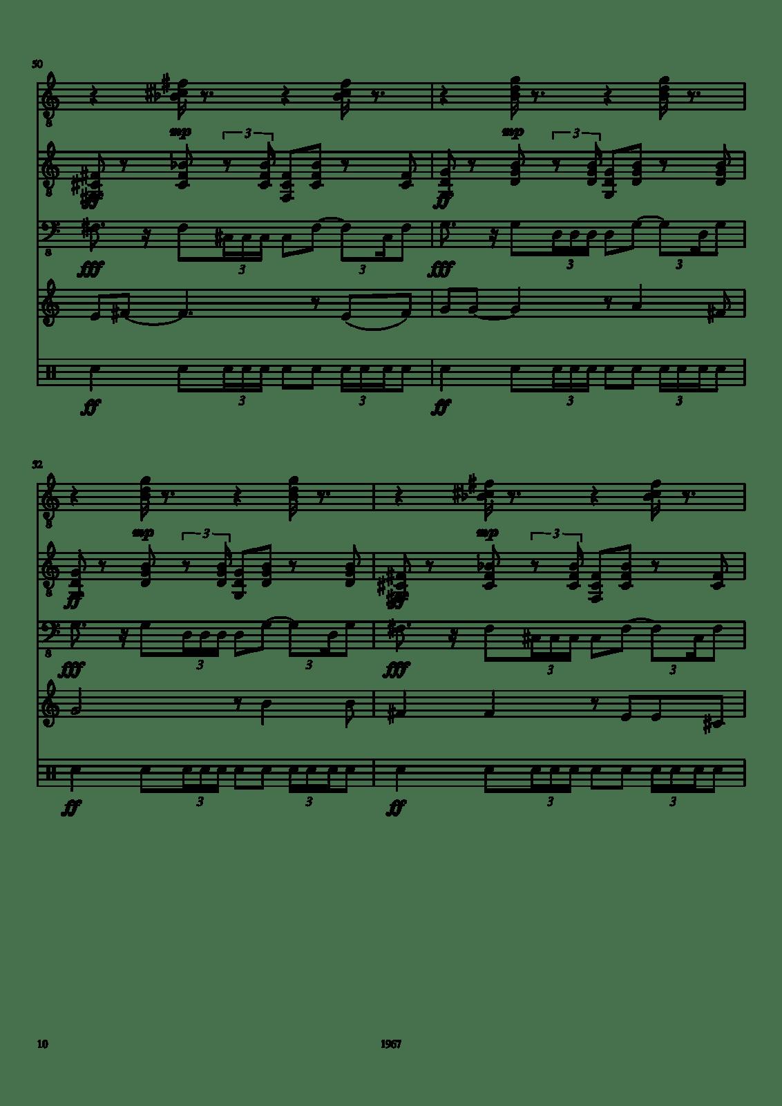 Free Sheet Music White Rabbit By Jefferson Airplane