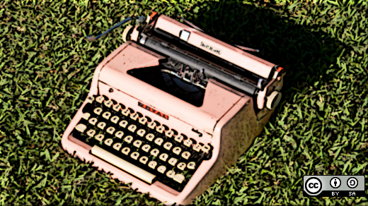 Typewriter in the grass