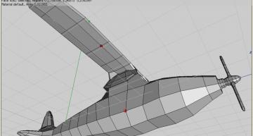 Figure 46: Select upper wing vertex, bevel for supporter