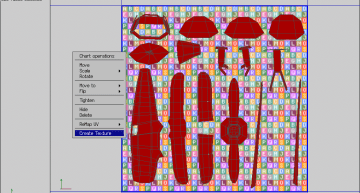 Figure 18: The Create Texture command applied