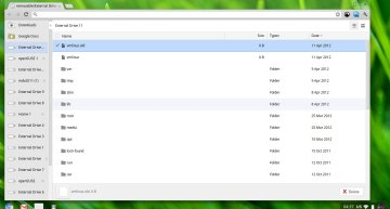 The minimalistic file manager is quite adequate
