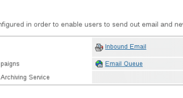 Figure 4: Outbound and inbound mail settings