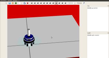 Figure 3: ARGoS basic simulation