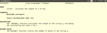 Fig-9 _ Shows the usage of pointer to constant in strlen() library function.