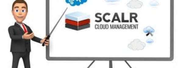 presentation showing cloud management