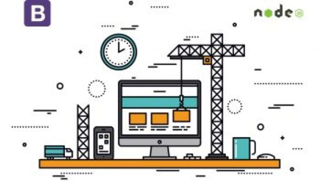 Build a website using Bootstrap and Express js framework
