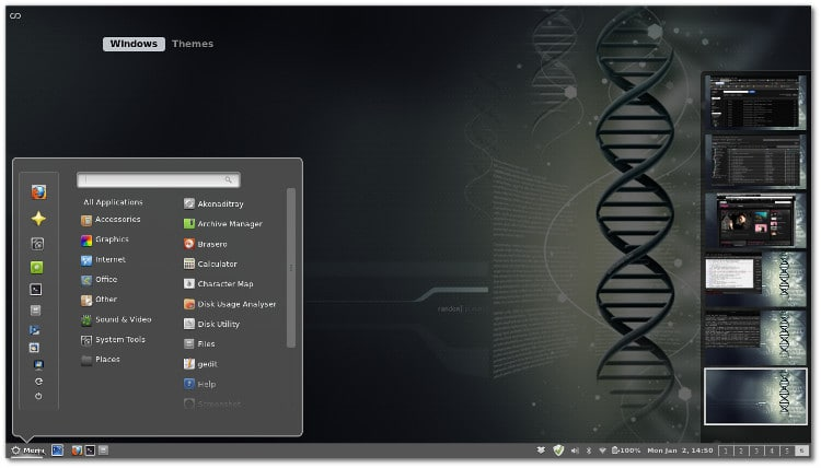 cinnamon 3.2 desktop environment