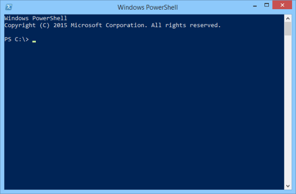 PowerShell on Windows 10
