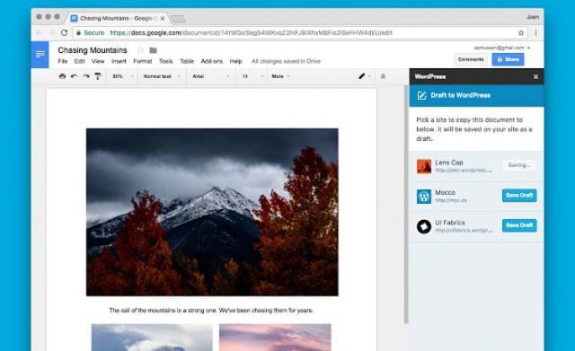Google Docs add-on for WordPress sites