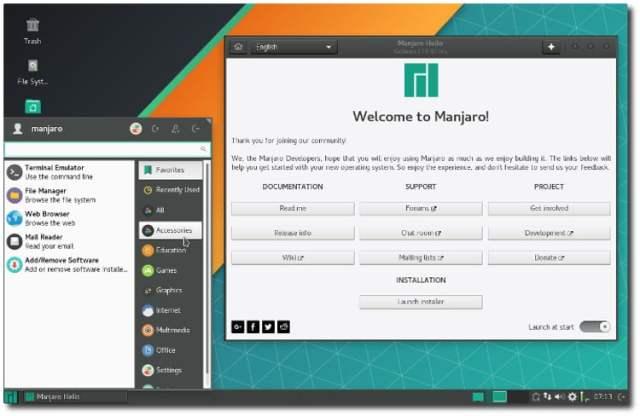 Manjaro Linux update
