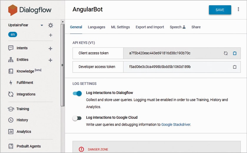Building a Chatbot in Angular Using Dialogflow - open source
